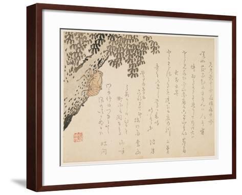 Shell of a Cicada, C.1848-53- Kangyoku-Framed Art Print