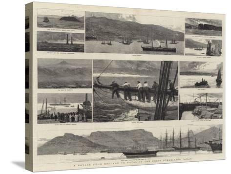 A Voyage from England to Natal in the Union Steam-Ship Arab-Joseph Nash-Stretched Canvas Print