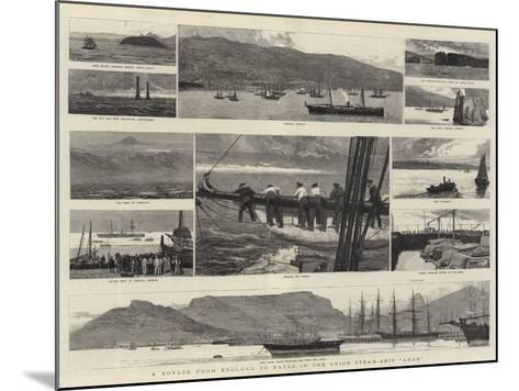 A Voyage from England to Natal in the Union Steam-Ship Arab-Joseph Nash-Mounted Giclee Print