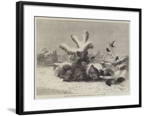 The Covey, from the Exhibition of the British Institution-Joseph Wolf-Framed Art Print