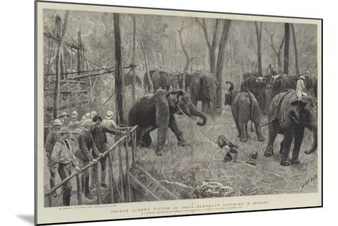 Prince Albert Victor in India-Joseph Nash-Mounted Giclee Print