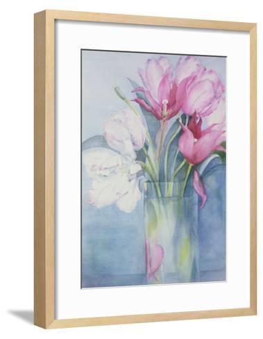 Pink Parrot Tulips and Marlette-Karen Armitage-Framed Art Print