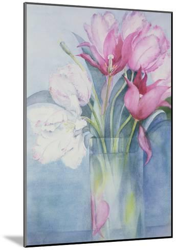 Pink Parrot Tulips and Marlette-Karen Armitage-Mounted Giclee Print
