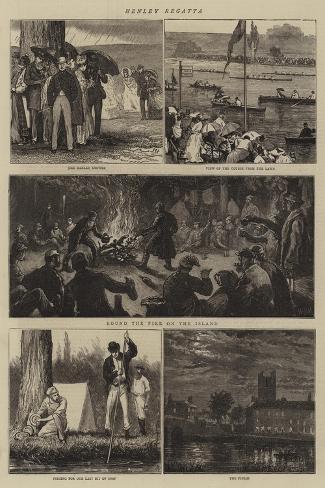 Henley Regatta-Joseph Nash-Stretched Canvas Print