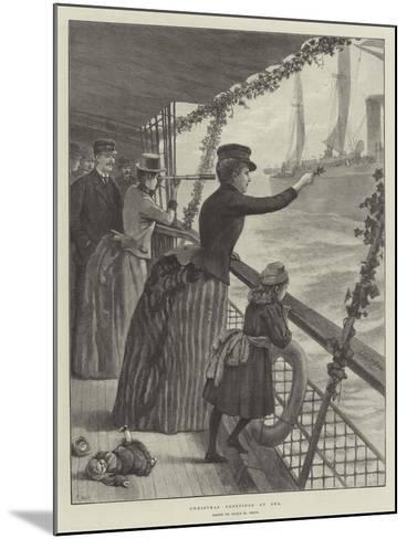 Christmas Greetings at Sea-Julius Mandes Price-Mounted Giclee Print