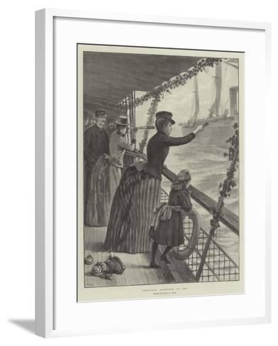 Christmas Greetings at Sea-Julius Mandes Price-Framed Art Print