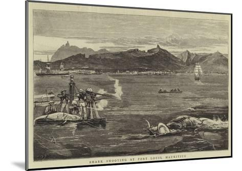 Shark Shooting at Port Louis, Mauritius-Joseph Nash-Mounted Giclee Print