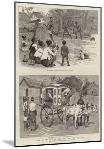The Manners and Customs of the Burmans-Joseph Nash-Mounted Giclee Print