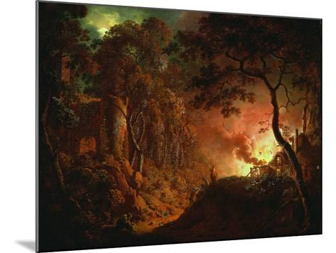 Cottage on Fire, C.1786-87-Joseph Wright of Derby-Mounted Giclee Print