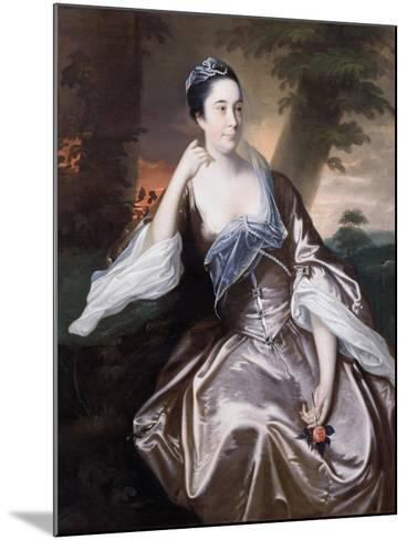 Mrs Lawrence Monck, 1760-Joseph Wright of Derby-Mounted Giclee Print