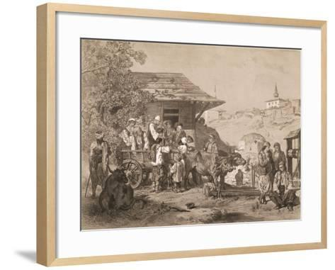 Bulgarians Near Varna, Printed by Lemercier, Paris-Jules Joseph Augustin Laurens-Framed Art Print