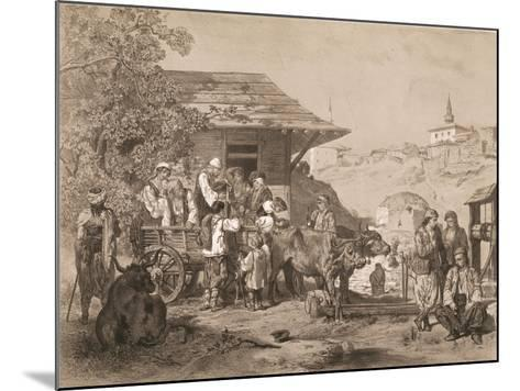 Bulgarians Near Varna, Printed by Lemercier, Paris-Jules Joseph Augustin Laurens-Mounted Giclee Print