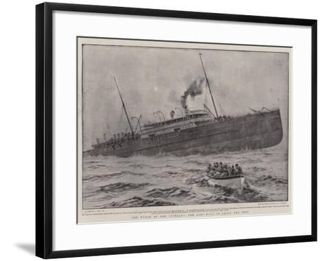 The Wreck of the Stella, the Last Boat to Leave the Ship-Joseph Nash-Framed Art Print