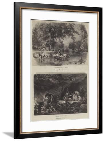 Fine Arts at the Paris Great Exhibition-Karl Girardet-Framed Art Print