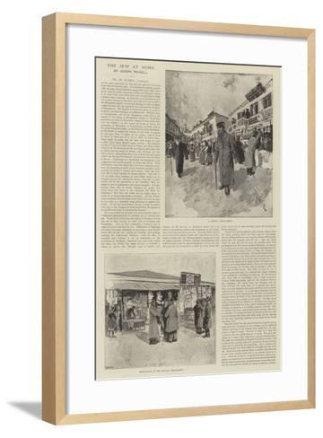 The Jew at Home-Joseph Pennell-Framed Art Print