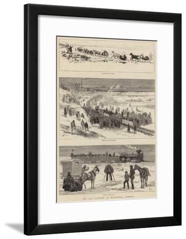 An Ice Railway at Montreal, Canada-Joseph Nash-Framed Art Print