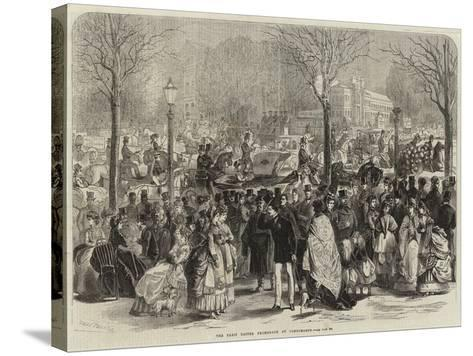 The Paris Easter Promenade at Longchamps-Jules Pelcoq-Stretched Canvas Print