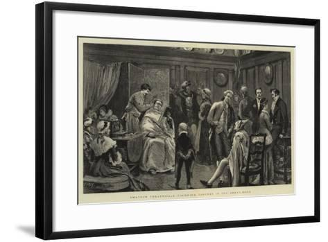 Amateur Theatricals, Finishing Touches in the Green-Room-Joseph Nash-Framed Art Print