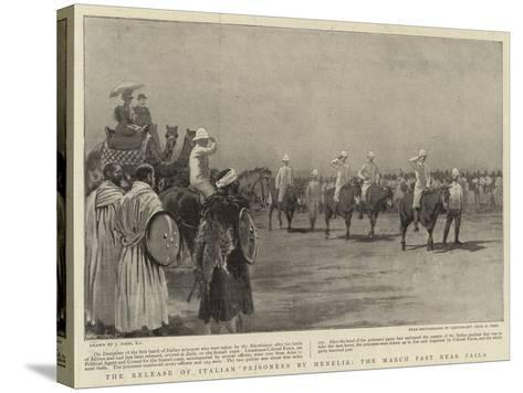 The Release of Italian Prisoners by Menelik, the March Past Near Zaila-Joseph Nash-Stretched Canvas Print