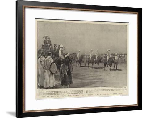 The Release of Italian Prisoners by Menelik, the March Past Near Zaila-Joseph Nash-Framed Art Print