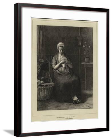 Expectation-Jozef Israels-Framed Art Print