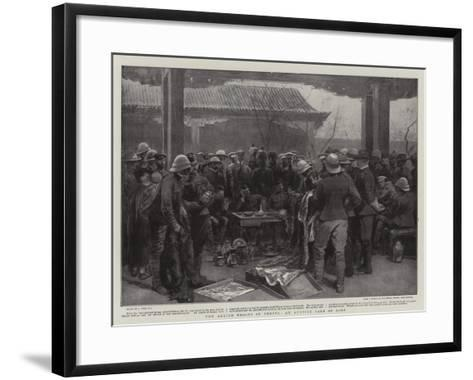 The Allied Troops in Peking, an Auction Sale of Loot-Joseph Nash-Framed Art Print