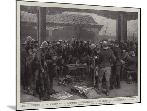 The Allied Troops in Peking, an Auction Sale of Loot-Joseph Nash-Mounted Giclee Print