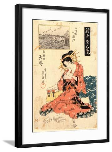 Nihonzutsumi No Rakugan Tamaya Uchi Tamagushi-Keisai Eisen-Framed Art Print