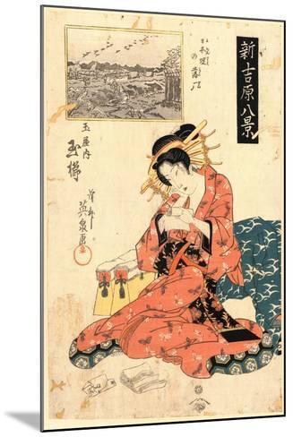 Nihonzutsumi No Rakugan Tamaya Uchi Tamagushi-Keisai Eisen-Mounted Giclee Print