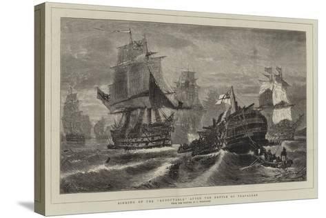 Sinking of the Redoutable after the Battle of Trafalgar-Konstantinos Bolanachi-Stretched Canvas Print