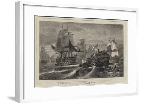 Sinking of the Redoutable after the Battle of Trafalgar-Konstantinos Bolanachi-Framed Art Print