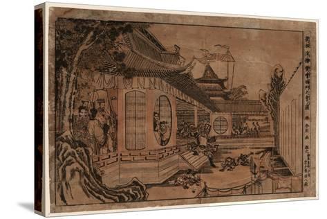 Shinpan Ukie Hankai Komon No Zu-Katsushika Hokusai-Stretched Canvas Print