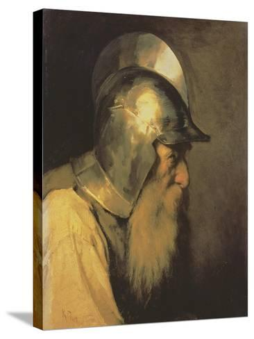An Old Warrior of the Time of the Huguenots, 1870-Karlis Fridikh Huns-Stretched Canvas Print