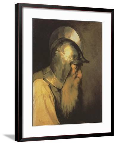 An Old Warrior of the Time of the Huguenots, 1870-Karlis Fridikh Huns-Framed Art Print