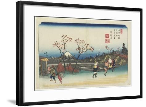 No.5: Distant View of Mt. Fuji as Seen from Omiya Station, 1830-1844-Keisai Eisen-Framed Art Print