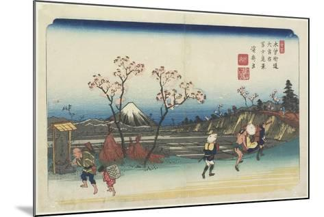 No.5: Distant View of Mt. Fuji as Seen from Omiya Station, 1830-1844-Keisai Eisen-Mounted Giclee Print