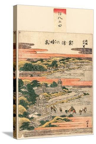 Awazu No Seiran-Katsushika Hokusai-Stretched Canvas Print