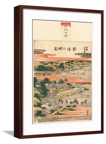 Awazu No Seiran-Katsushika Hokusai-Framed Art Print