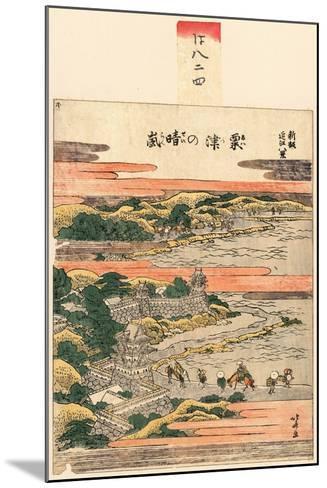 Awazu No Seiran-Katsushika Hokusai-Mounted Giclee Print
