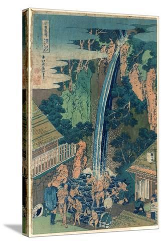 So¯Shu Oyama Roben No Taki-Katsushika Hokusai-Stretched Canvas Print