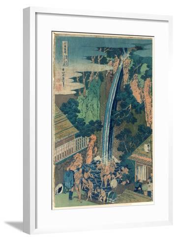 So¯Shu Oyama Roben No Taki-Katsushika Hokusai-Framed Art Print