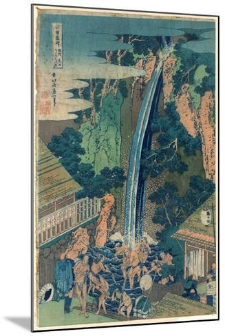 So¯Shu Oyama Roben No Taki-Katsushika Hokusai-Mounted Giclee Print