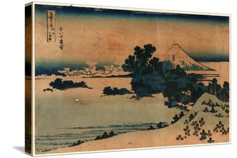 Soshu Shichiriga Hama-Katsushika Hokusai-Stretched Canvas Print