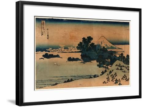 Soshu Shichiriga Hama-Katsushika Hokusai-Framed Art Print