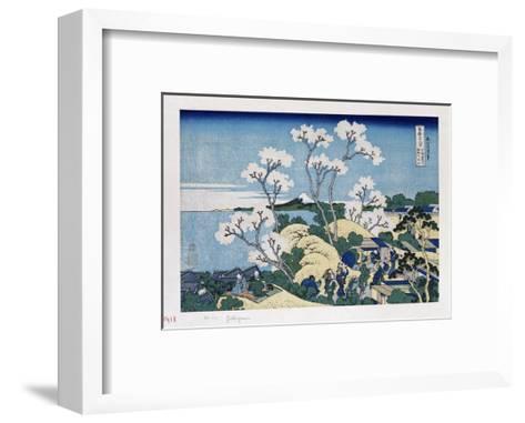 Fuji from Gotenyama at Shinagawa on the Tokaido'-Katsushika Hokusai-Framed Art Print