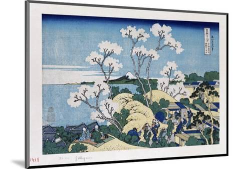 Fuji from Gotenyama at Shinagawa on the Tokaido'-Katsushika Hokusai-Mounted Giclee Print