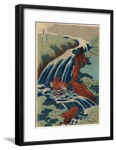 Washu Yoshino Yoshitsune Uma Arai No Taki-Katsushika Hokusai-Framed Art Print