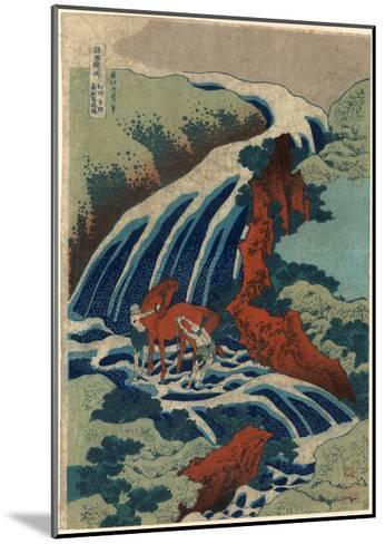 Washu Yoshino Yoshitsune Uma Arai No Taki-Katsushika Hokusai-Mounted Giclee Print
