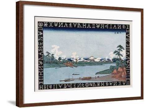 Rokugo Ferry-Keisai Eisen-Framed Art Print