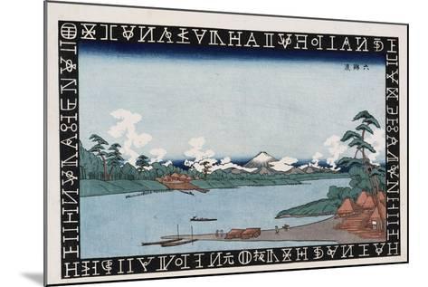 Rokugo Ferry-Keisai Eisen-Mounted Giclee Print